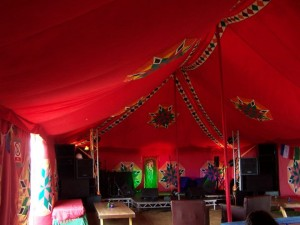 Marquee, Stage and PA rented to Ventnor Fringe Festival on the Isle of Wight